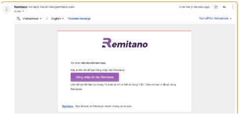 Đăng kí tài khoản sàn Remitano