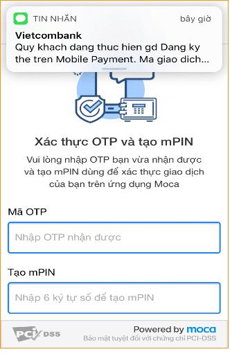 Điền mã OTP