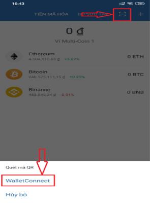 "Bấm ""Wallet Connect"""
